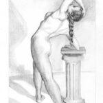 Practising nude drawing