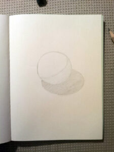 Sphere Drawing IKEA pencil