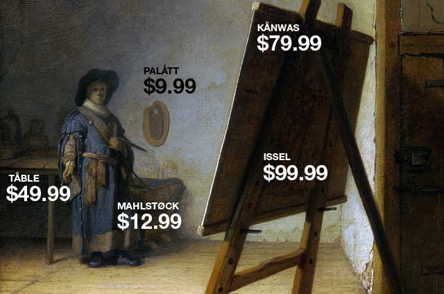 Rembrandt with IKEA