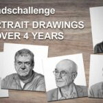 My personal #250headschallenge and how I improved portrait drawing