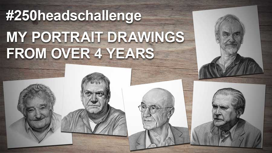 My portrait drawings banner